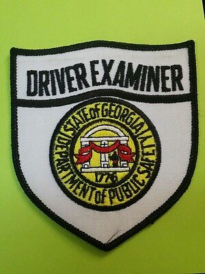 Georgia Department Of Public Safety Driver Examiner Police Shoulder Patch Ga