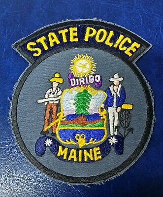 Maine State Police Shoulder Patch Slate  Me