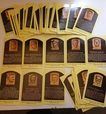 NATIONAL BASEBALL HALL OF FAME POST CARDS CURTEICHCOLOR Lot of (79) 1965-1977