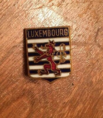Vintage Luxembourg Coat-of-Arms Travel Souvenir Collector Pin