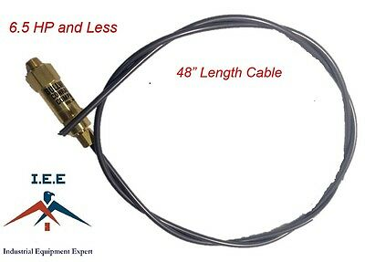 """New Throttle Control Cable for Gas Air Compressors Unloader Bullwhip 48"""""""