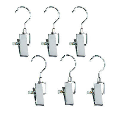 6 Pack Metal Clip Integrated Hooks Dry Hanging Organizer of Boots Shoes Hanger