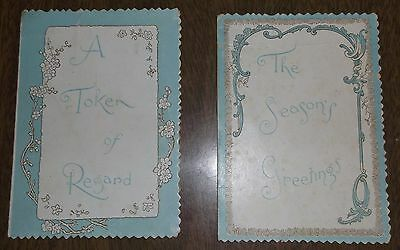 2 Antique Pop Up Greeting Cards Snooping Skeleton Keyhole Source of News Wo Man