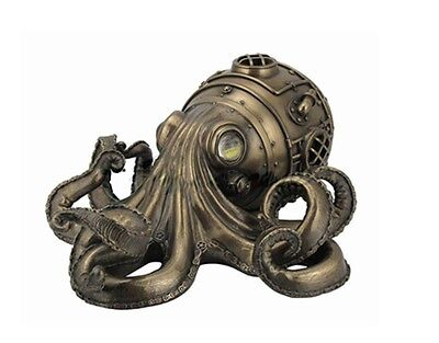 "10.75"" Steampunk Octopus Wall Plaque Gothic Decor Statue Sculpture"