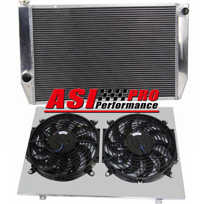 3ROW Aluminum Radiator +Shroud fan FOR Ford Falcon V8 6cyl XC XD XE XF AT/MT