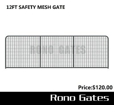12ft Safety Mesh Farm Gate & Cattle Horse Sheep Yard Panels