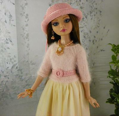 By lisella64...Doll Outfit for Tonner Ellowyne,Lizette,Amber-Swarovski Jewelry-