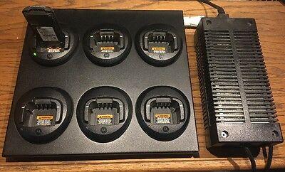 Genuine OEM Motorola CP185 6 Bank Multi Bay Charger PMLN5228A CP1300 CP1600