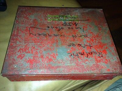 Antifyre Pistole Vintage Fire Extinguisher Box /tin Only