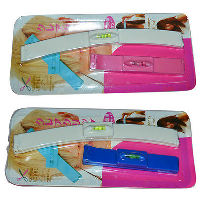 DIY 1 Set Professional Bangs Hair Cutting Clip Hairstyle Trim Ruler Tool