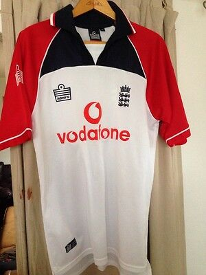 "England Cricket Shirt  ~ Official  Admiral Merchandise S 44"" Chest"