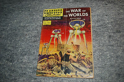 """Classics Illustrated """"War of the Worlds"""" #124, Jan 1955"""