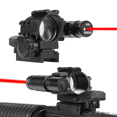 *Hunting 4 Reticles Holographic Red/Green Reflex Dot Scope + Laser Sight Combo
