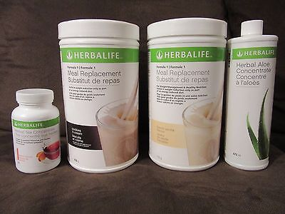 2 Herbalife Protein Shake 750 g, Herbal Aloe Concent. 473 ml & Tea Concent. 50ml