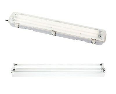 LED Dimmable Indoor & Outdoor LED Battens T8 Tubes 4 Foot Single or Double
