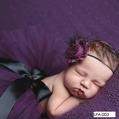 Newborn Baby Girl Tutu Skirt & Headband Photo Prop baby shower gift or Birthday