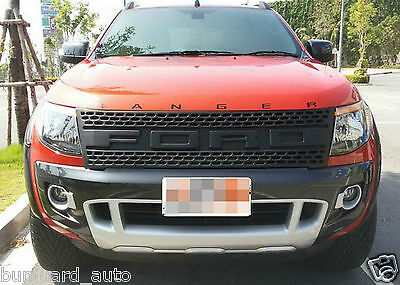 Grill Black FOR Ford Ranger Ute 2012 13 14 15 Pf Xl Wildtrak Abs Pickup 12 2013