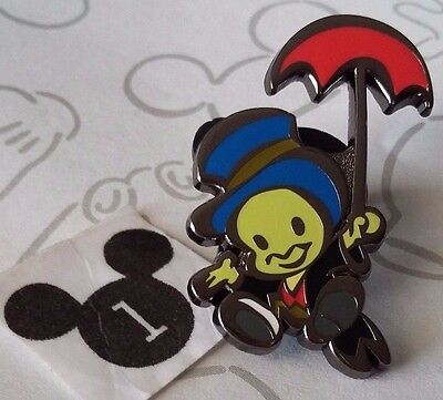 Jiminy Cricket Holding Umbrella Cute Stylized Characters Mystery 2016 Disney Pin