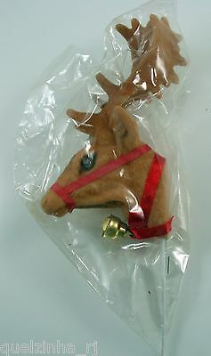 Vintage Christmas Lark Reindeer Tree Ornament Wire Wreath Decoration NOS
