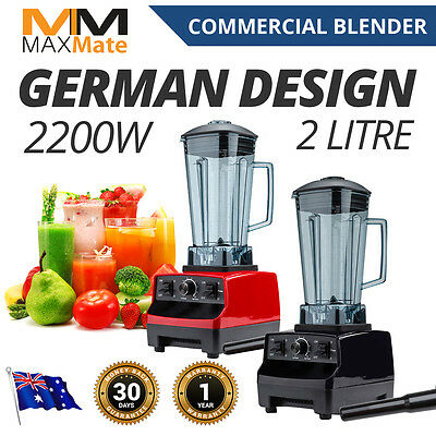 NEW Commercial Blender Mixer Food Processor Juicer Smoothies 2L ICE NUTS Crush