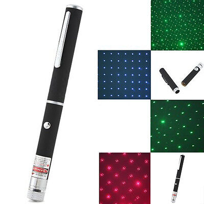 Powerful 2-In-1 Green/Red/Blue Violet Laser Pointer Pen Beam Light 5mW
