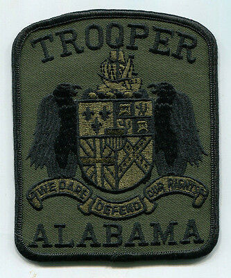 Alabama State Trooper Patch - Subdued /// Tactical /// Police /// SWAT