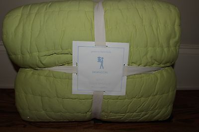 NWT Pottery Barn Kids Branson twin quilt reversible green gray