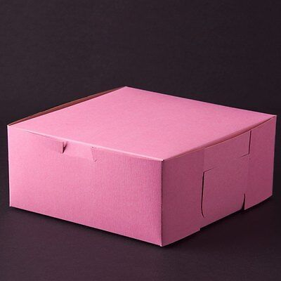 50 count PINK 10x10x4 Bakery or Cake Box
