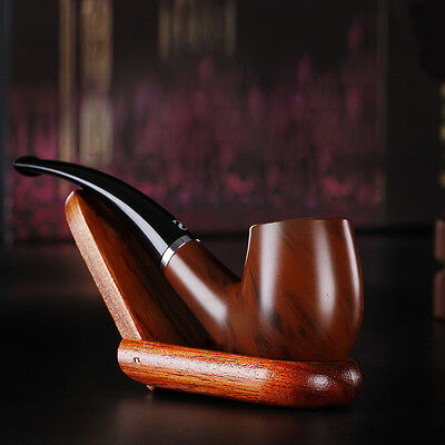 Perfect Wooden Enchase Smoking Pipe Tobacco Cigarettes Cigar Filter Pipes Gift