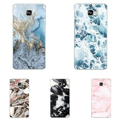 Case For Samsung Galaxy A8 A9 2016 Soft TPU Cell Phone Back Cover Marble