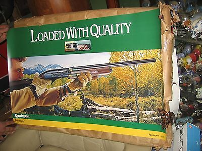 "Vintage Remington Loaded with quality 35"" by 23"" poster  NICE"