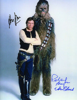 Peter Mayhew & Harrison Ford Signed Photo Aprox 10X8 Copy (1)