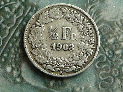 switzerland 1903 half franc coin