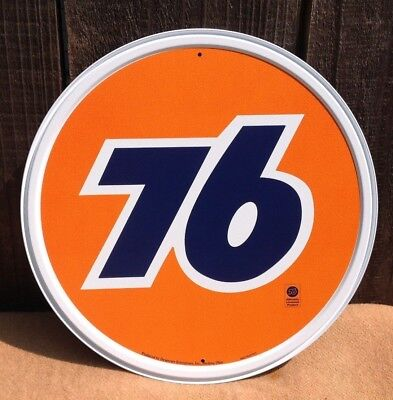 Union Aviation gasoline oil garage racing vintage round metal sign Reproduction