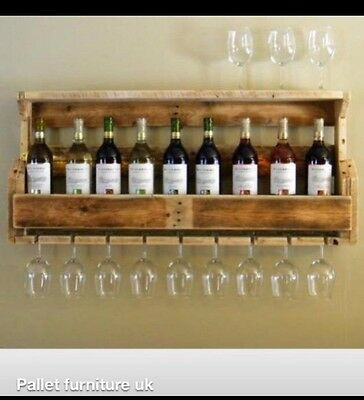 Wine Rack And Shelf With Glass Holder ...