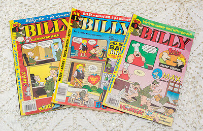 Three Beetle Bailey NORWEGIAN Billy Comic Books 1997 Norsk No1, 5 and 9