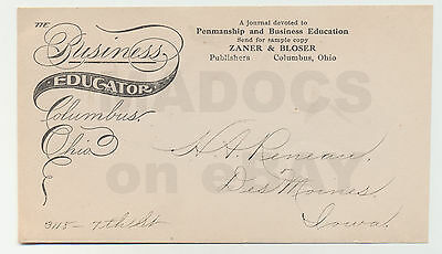 """1911 E.A LUPFER """"Reneau"""" Business Educator Envelope Front E.A. Lupfer Collection"""