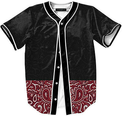 Unisex Baseball Jersey 3D Contrast Floral Print Breathable Dance Open Tshirt Tee