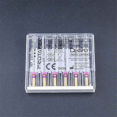 US 6PCS/PACK 21MM S1 ProTaper Files Niti Dental Dentsply Rotary For Macbine Use