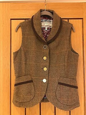 Joules Tweed Waistcoat Size 14 New Without Tags
