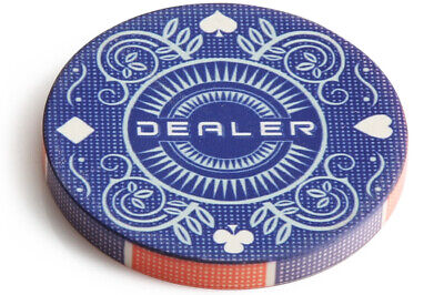 """Suits Dealer Button 2"""" Width Double Sided Gambling Casino Grade NEW"""