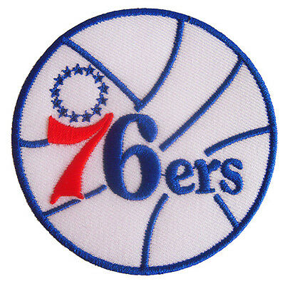 New NBA Philadelphia 76ers logo embroidered iron on patch. 3 inch (IB20)