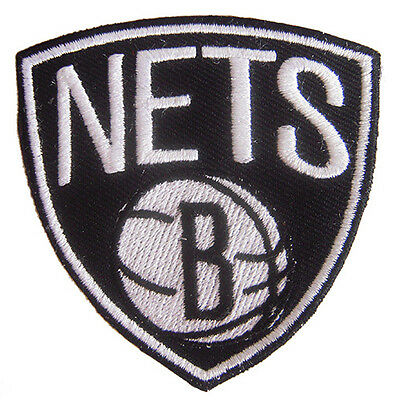 New NBA Brooklyn Nets logo embroidered iron on patch. (IB19)