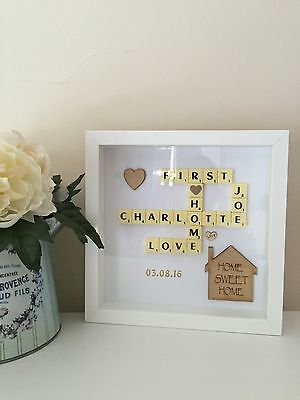 New Home Scrabble Gift Personalised Frame.