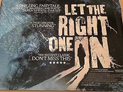 Let The Right One In Original Uk Cinema Quad Poster