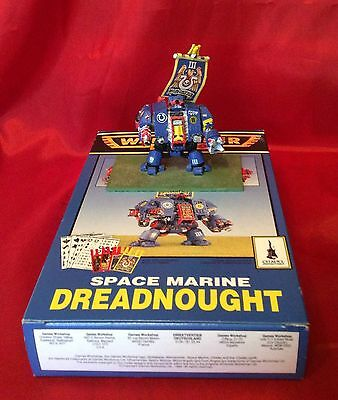 Warhammer 40K Space Marine Metal Dreadnought With Box - Painted - 1990's