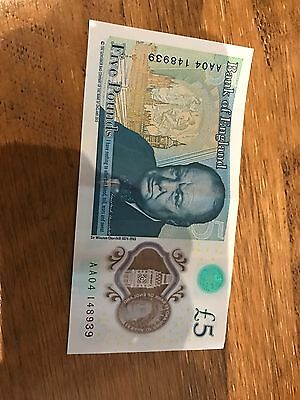 New £5 Note AA04