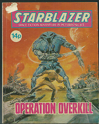 Operation Overkill,no.45,starblazer Space Fiction Adventure In Pictures,comic