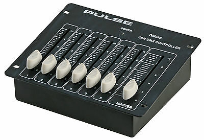 PULSE 6 Channel DMX Controller + Master