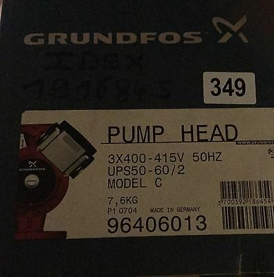 Grundfos UPS/UPSD 50-60/2 Circulator Replacement Pump Head 415V (96406013)